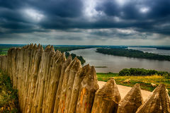 Wooden fortress at the devil Elabuga settlement of Tatarstan, Ru Royalty Free Stock Photo