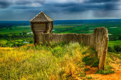 Wooden fortress at the devil Elabuga settlement of Tatarstan, Ru Royalty Free Stock Image