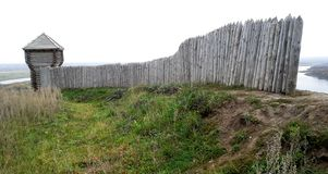 Wooden fortress, fort Royalty Free Stock Images