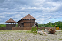 Wooden fortress Stock Photos