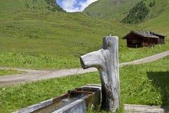 Wooden fountain Stock Photo