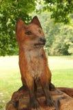 Wooden fox Stock Photos