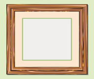 Wooden frame. A illustration for your design project. You can put your own pictures in royalty free illustration