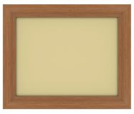 Wooden frame. With gray background Royalty Free Stock Photo
