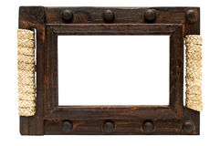Wooden frame. Stock Images