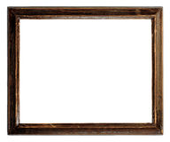 Wooden frame. An old wooden frame isolated royalty free stock photo
