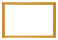 Wooden frame. With incrustation on the white background Royalty Free Stock Image
