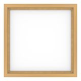 Wooden frame. With white background Stock Photo