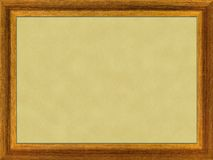 Wooden frame. Raster image, wooden frame for a picture Stock Image