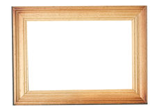 Wooden frame. Isolated wooden frame on a white background Royalty Free Stock Image