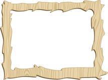 Wooden frame. Wooden decorative frame. Vector illustration Stock Photography