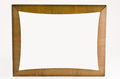 Wooden frame. Old wooden frame on white background Royalty Free Stock Photo