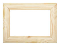 Wooden frame. A photo of wooden frame over white background Stock Photos