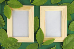 Wooden frame Stock Photo