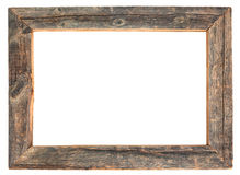 Wooden frame. Worn wooden frame with clipping path