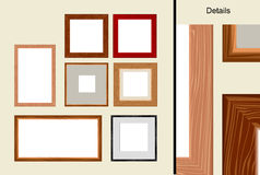 Wooden Frame. ( vector EPS 8 Royalty Free Stock Photo