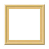 Wooden frame. A square wooden frame for your artwork stock illustration