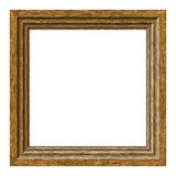 Wooden frame. On white background Stock Images