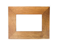 Wooden frame. Simple wooden picture frame with copy space Royalty Free Stock Image