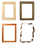 Wooden frame art decoration gallery Royalty Free Stock Photo