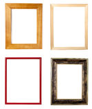 Wooden frame art decoration gallery Stock Image