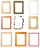 Wooden frame art decoration gallery Stock Images
