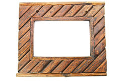 Wooden frame background Stock Image