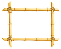Wooden frame of bamboo sticks Stock Images