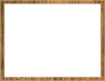 Wooden frame. Beautiful wooden frame affixed to the pictures vector illustration