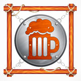 Wooden frame for beer pub Royalty Free Stock Photos