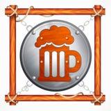 Wooden frame for beer pub vector illustration