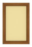 Wooden frame with beige background. Isolated wooden frame with beige background Royalty Free Stock Photos