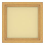 Wooden frame with beige background. Isolated wooden frame with beige background Royalty Free Stock Photography
