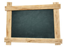 Wooden frame blackboard. Isolated for display Stock Photography