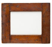 Wooden frame with canvas Royalty Free Stock Images