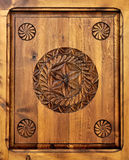 Wooden frame carved Royalty Free Stock Photo