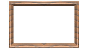 Wooden frame classic Rectangle. Old wooden frame classic Rectangle Stock Illustration