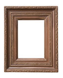 wooden frame with clipping patch Royalty Free Stock Photos