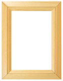 Wooden Frame with clipping path Royalty Free Stock Image