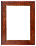 Wooden Frame Cutout. Empty Vertical Wooden Picture Frame Additional format is with transparent background stock photos