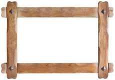 Wooden Frame Cutout. Old Wooden Picture Frame Cutout Additional format with transparent background stock photography