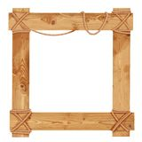 Wooden frame fastened together with ropes Stock Photography