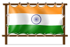 A wooden frame with the flag of India Stock Photos