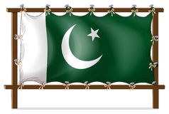 A wooden frame with the flag of Pakistan Stock Photos