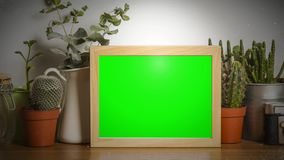 Wooden frame stock footage