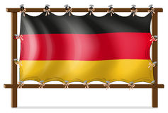 A wooden frame with a German flag. Illustration of a wooden frame with a German flag on a white background Royalty Free Stock Photo