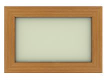 Wooden frame with gray background. Isolated wooden frame with gray background Royalty Free Stock Images