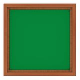 Wooden frame with green background. Isolated wooden frame with green background Royalty Free Stock Photo