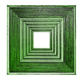 Wooden frame green Royalty Free Stock Images
