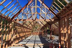 Wooden frame house building - New Zealand Royalty Free Stock Photo